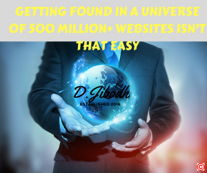 GETTING FOUND IN A UNIVERSE OF 500 MILLIOM+ WEBSITES ISN'T THAT EASY